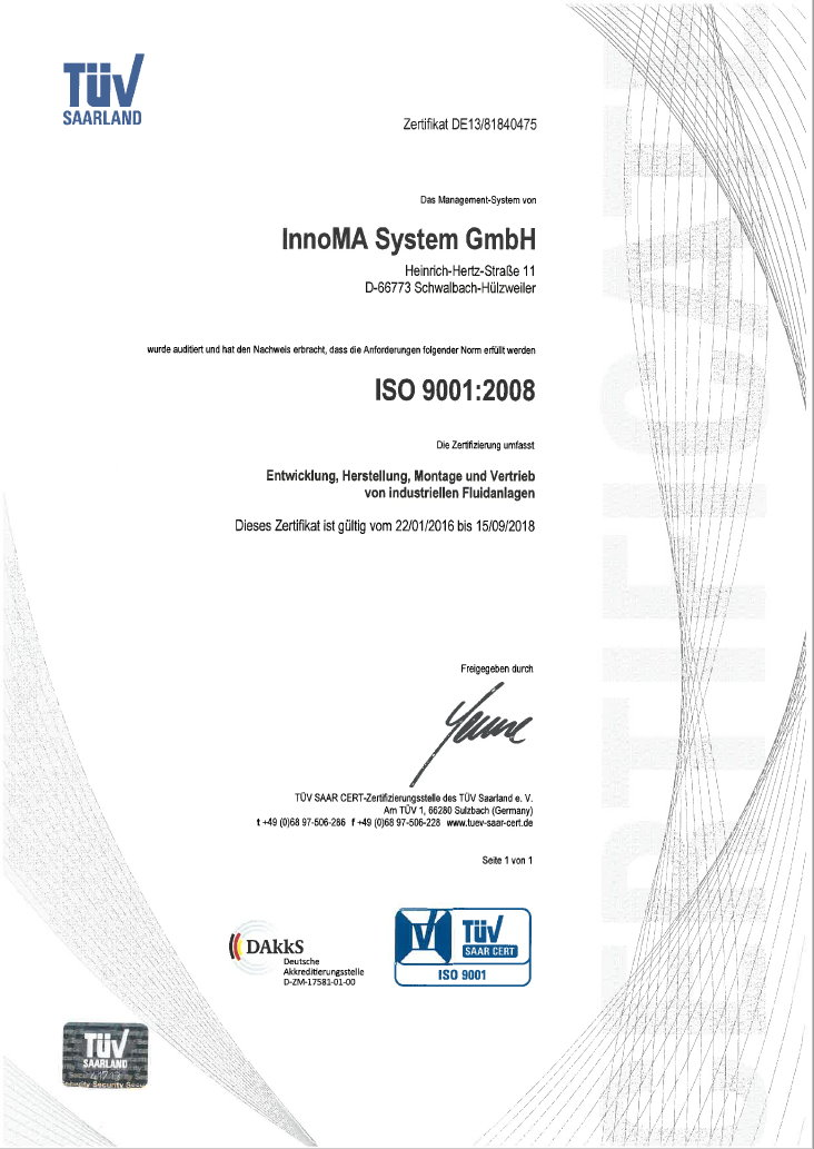 Certified quality guarantees operational reliability